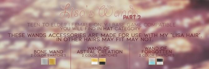 Sims 4 LISA'S WANDS pt.2 at Candy Sims 4