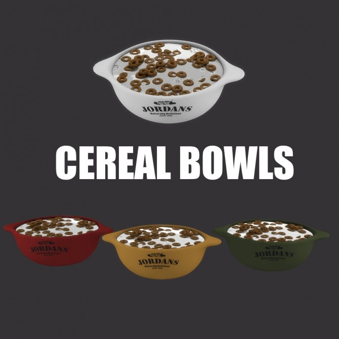 Sims 4 Cereal Bowls at Leo Sims