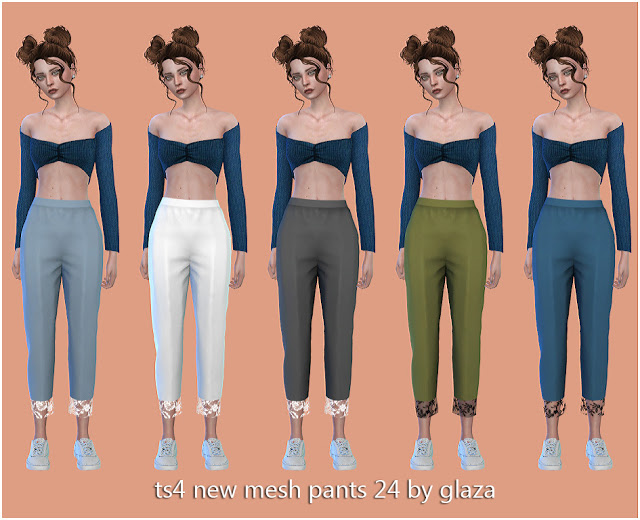 Pants 24 at All by Glaza image 1258 Sims 4 Updates
