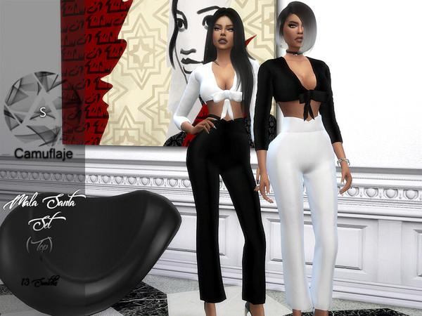 Sims 4 Mala Santa Top by Camuflaje at TSR