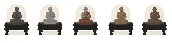 Sims 4 Recolors of LunaticaVillage's Buddha at Riekus13