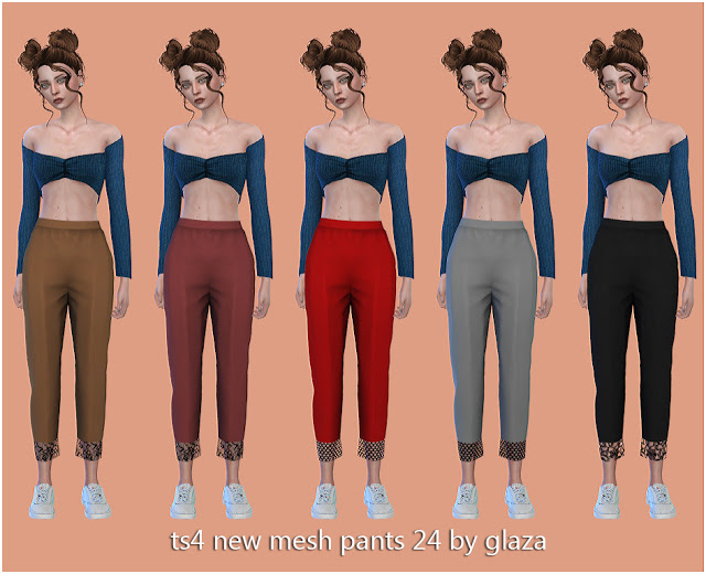 Pants 24 at All by Glaza image 1268 Sims 4 Updates