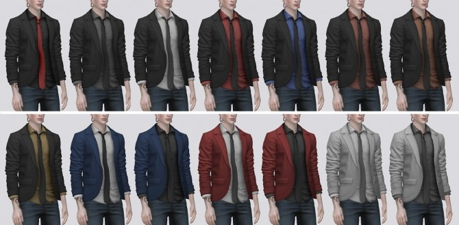 Blazer with Tie Shirt (P) at Darte77 image 12711 670x329 Sims 4 Updates
