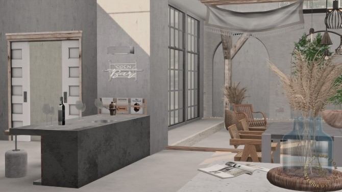 Sims 4 THE SECTION HOUSE at Milja Maison