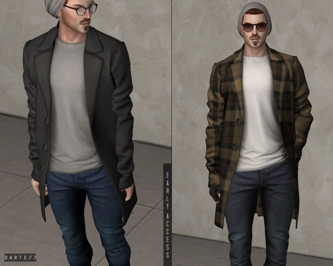 Wool Overcoat with T shirt (P) at Darte77 image 12810 670x536 Sims 4 Updates