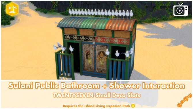 Sims 4 Sulani Public Bathroom + Shower Interaction by Bakie at Mod The Sims
