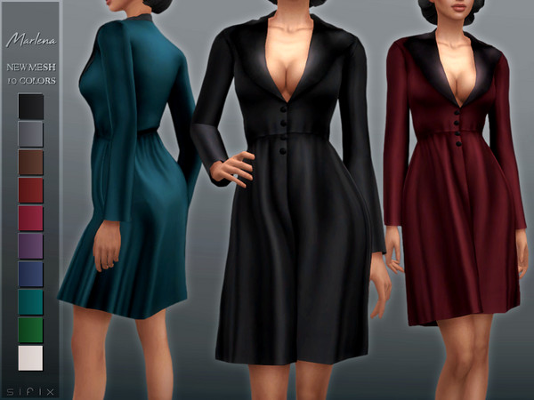 Sims 4 Marlena Coat by Sifix at TSR