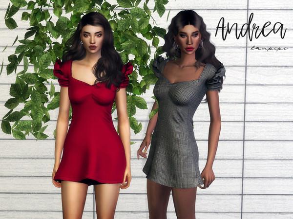 Sims 4 Andrea Dress by laupipi at TSR