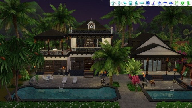 Tropical Villa no CC at Tatyana Name image 1302 670x377 Sims 4 Updates