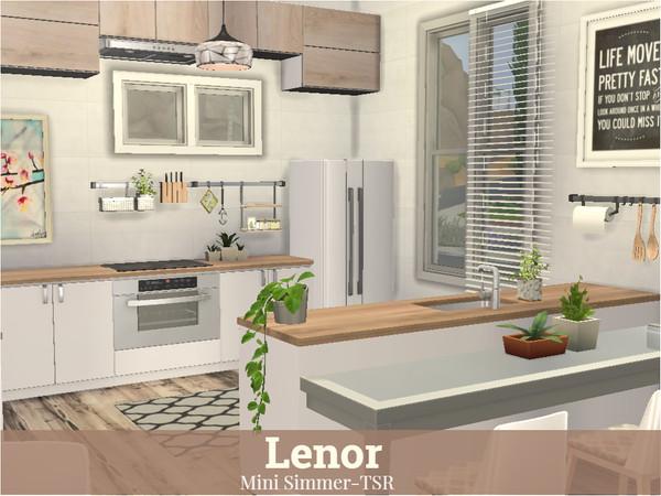 Sims 4 Lenor modern house by Mini Simmer at TSR