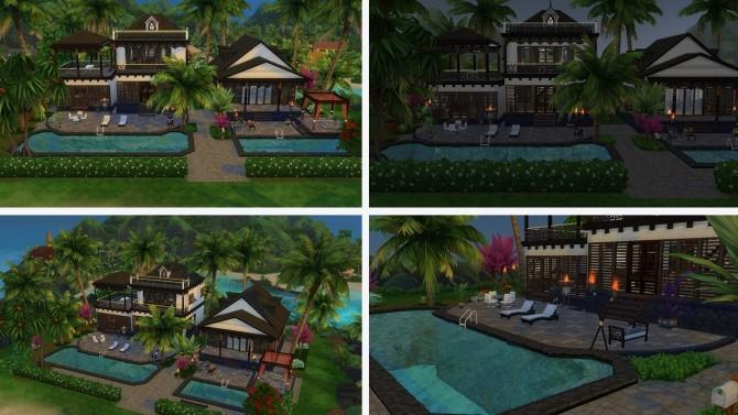 Sims 4 Tropical Villa no CC at Tatyana Name