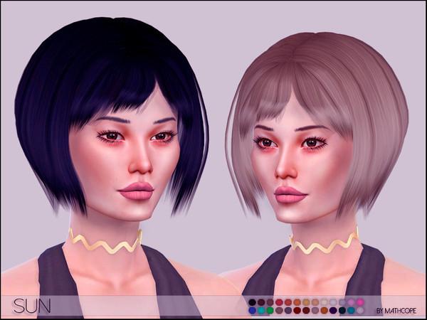 Sims 4 Sun Hair by mathcope at TSR