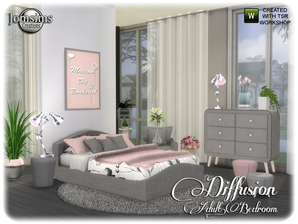 Diffusion bedroom by jomsims at TSR image 13315 Sims 4 Updates