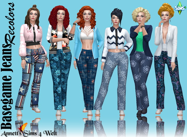 Basegame Jeans Recolors at Annett's Sims 4 Welt image 1334 Sims 4 Updates