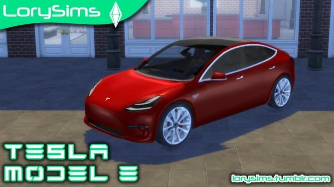 Tesla Model 3 at LorySims image 1336 670x377 Sims 4 Updates