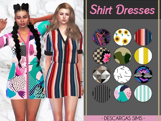 Sims 4 Shirt Dresses at Descargas Sims