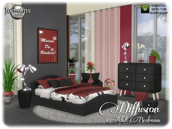 Diffusion bedroom by jomsims at TSR image 13414 Sims 4 Updates