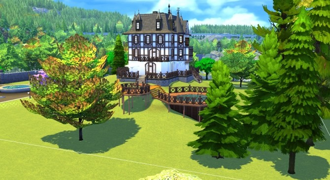 Sims 4 Villa Cassel by valbreizh at Mod The Sims