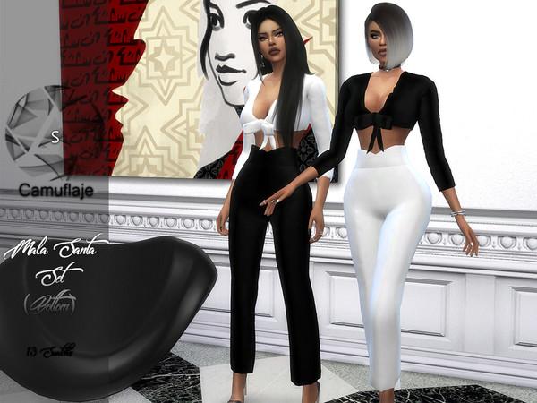 Sims 4 Mala Santa trousers by Camuflaje at TSR