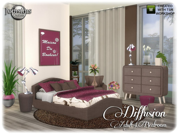 Diffusion bedroom by jomsims at TSR image 13515 Sims 4 Updates