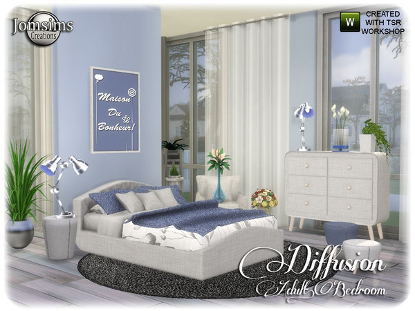 Diffusion bedroom by jomsims at TSR image 13614 Sims 4 Updates