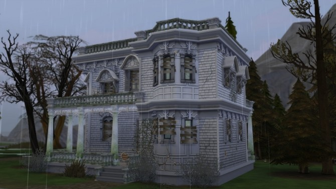 Sims 4 Abandoned Victorian house by Christine11778 at Mod The Sims