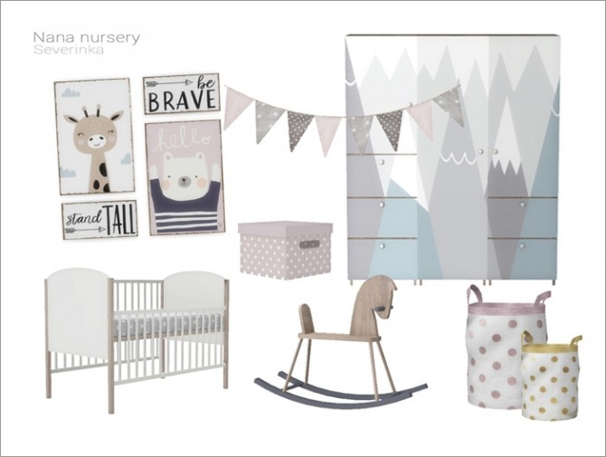 Nana nursery by Severinka at TSR image 13713 670x505 Sims 4 Updates