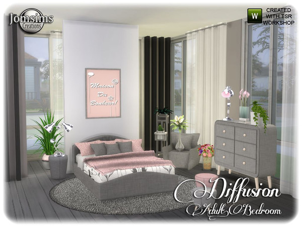 Diffusion bedroom by jomsims at TSR image 13714 Sims 4 Updates
