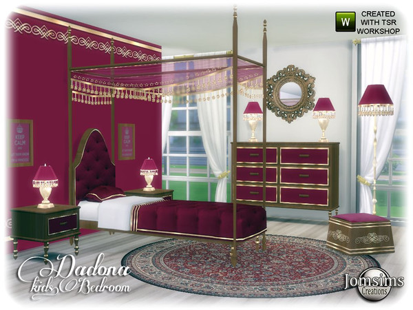 Dadona kids bedroom by jomsims at TSR image 13715 Sims 4 Updates