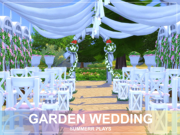 Sims 4 Garden Wedding by Summerr Plays at TSR