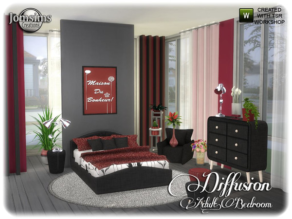 Diffusion bedroom by jomsims at TSR image 13813 Sims 4 Updates