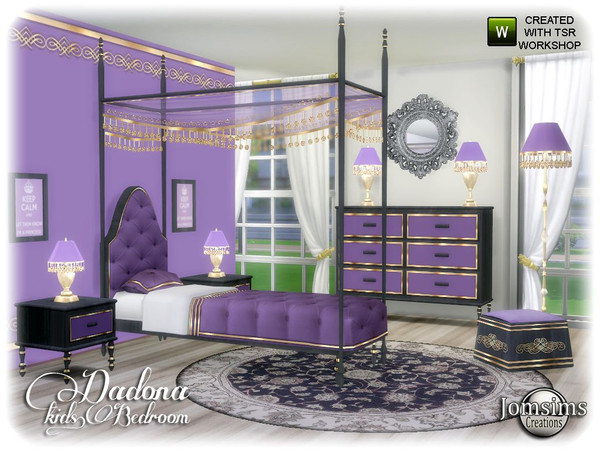 Dadona kids bedroom by jomsims at TSR image 13814 Sims 4 Updates