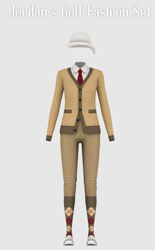 Sims 4 Jordan's Golf Fashion Set at Happy Life Sims