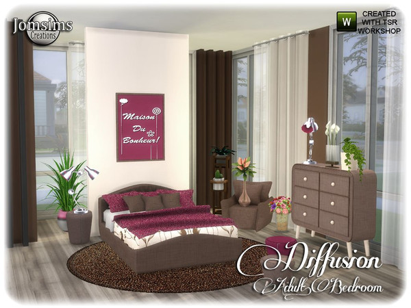 Diffusion bedroom by jomsims at TSR image 13914 Sims 4 Updates