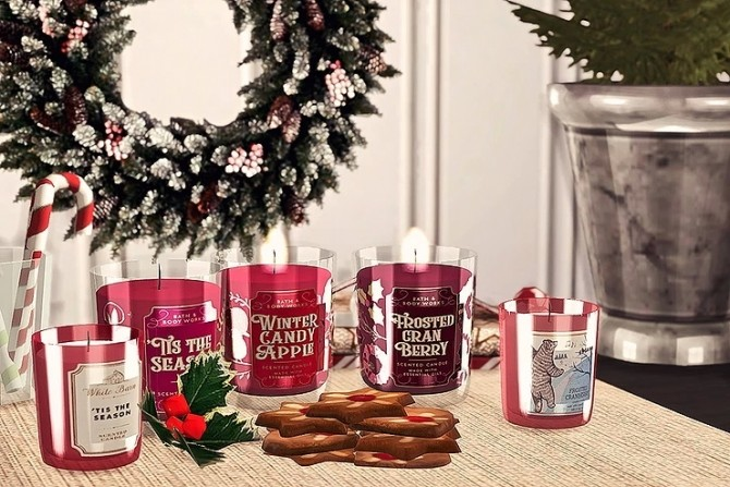 Bath & Body Works Candle Winter Collection by Sooky at Blooming Rosy image 1405 670x447 Sims 4 Updates