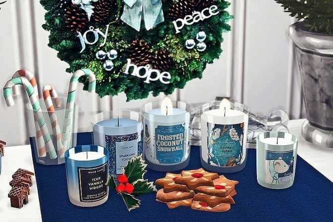 Bath & Body Works Candle Winter Collection by Sooky at Blooming Rosy image 14111 670x448 Sims 4 Updates