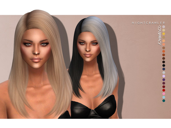 Sims 4 Conspiracy HAIR by Nightcrawler at TSR