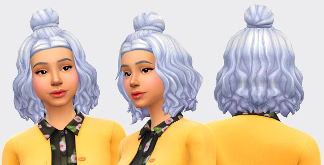 Shizue Hair at Pickypikachu image 1424 Sims 4 Updates