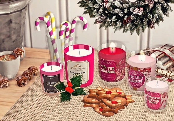 Bath & Body Works Candle Winter Collection by Sooky at Blooming Rosy image 1426 670x465 Sims 4 Updates
