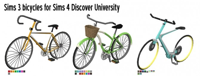 Bicycles for Discover University by Sandy at Around the Sims 4 image 1438 670x257 Sims 4 Updates