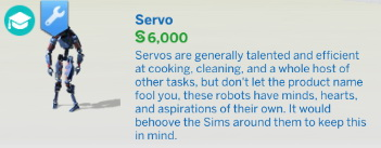 Buyable Servo by Qahne at Mod The Sims image 14413 Sims 4 Updates