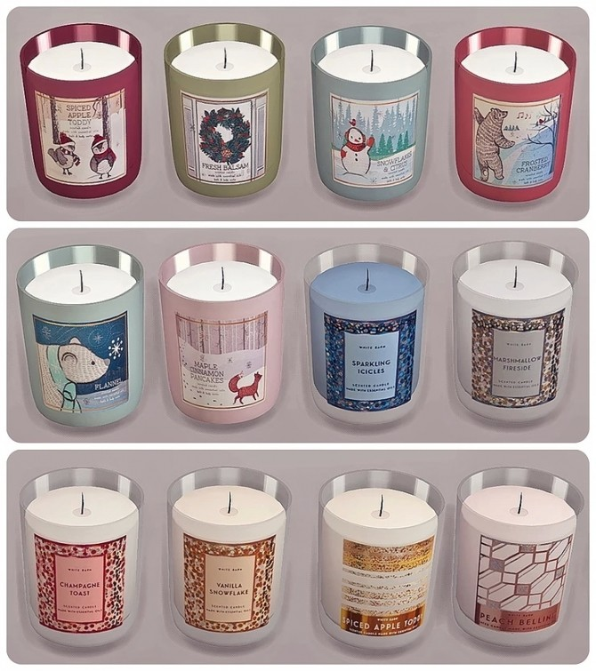 Bath & Body Works Candle Winter Collection by Sooky at Blooming Rosy image 1446 670x755 Sims 4 Updates