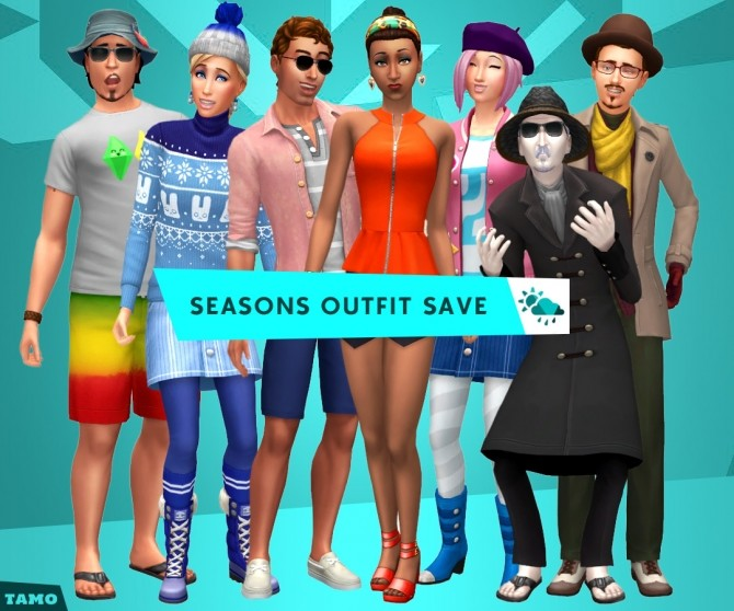 Seasons Outfit Save File at Tamo image 1447 670x558 Sims 4 Updates
