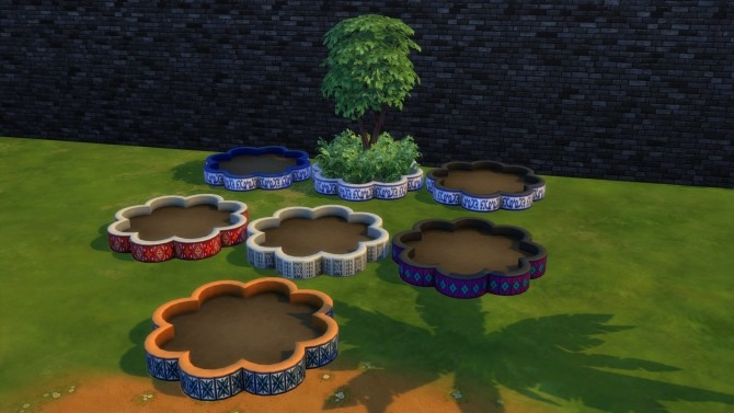 Flower shaped mosaic planterbox by Serinion at Mod The Sims image 14713 670x377 Sims 4 Updates