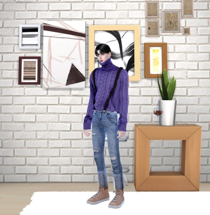 Turtleneck knit top at Chaessi image 14715 670x686 Sims 4 Updates