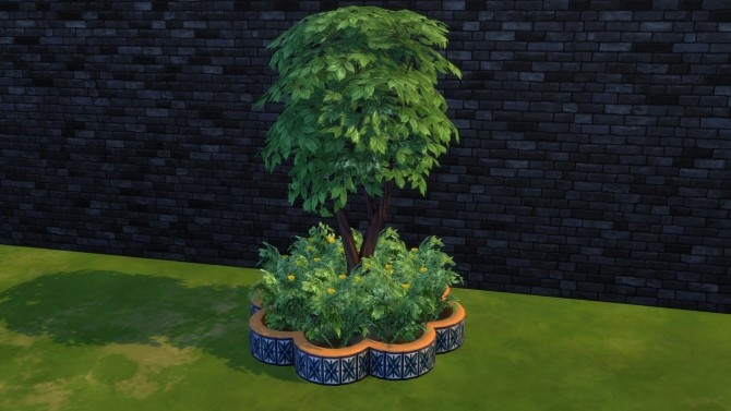 Flower shaped mosaic planterbox by Serinion at Mod The Sims image 14813 670x377 Sims 4 Updates