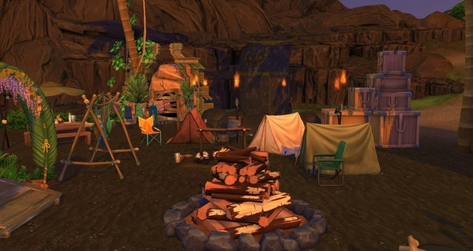 Turtle camp by Coco Simy at L'UniverSims image 1483 670x355 Sims 4 Updates