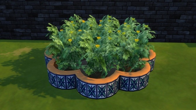 Flower shaped mosaic planterbox by Serinion at Mod The Sims image 14913 670x377 Sims 4 Updates