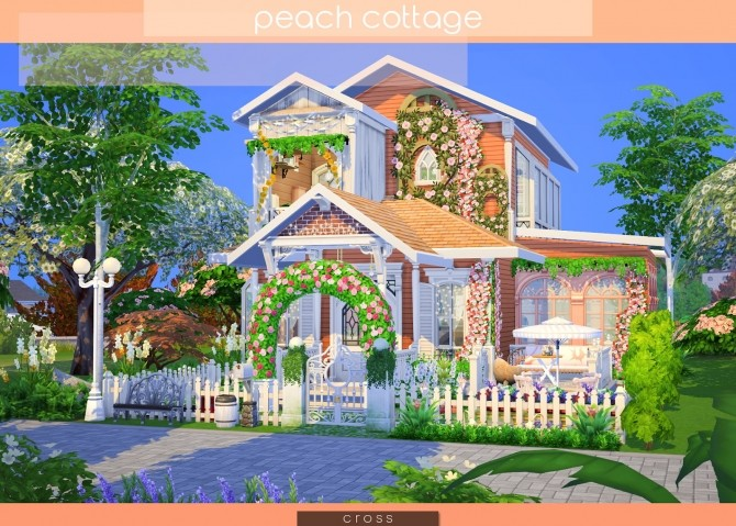 Peach Cottage by Praline at Cross Design image 1497 670x479 Sims 4 Updates