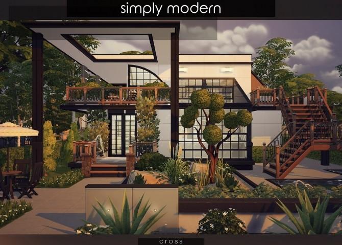 Simply Modern villa by Praline at Cross Design image 15016 670x479 Sims 4 Updates